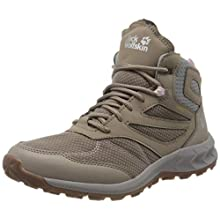 Jack Wolfskin Women's Woodland Texapore Mid W High Rise Hiking Shoes, Beige (Clay/Light Grey 5239), 7 UK