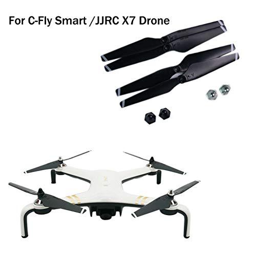 Jamicy® Propeller Für C-Fly Smart / JJRIC X7 RC Quadcopter, Drone Ersatzteile Propellerblätter mit 4 x Befestigungsmutter -