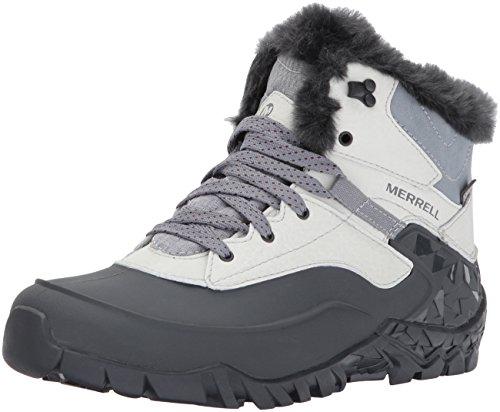 Merrell Women Aurora 6 Ice+ Waterproof High Rise Hiking Shoes, Grey (Ash),...