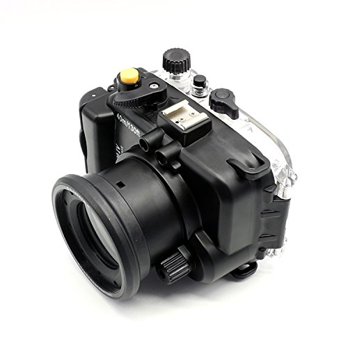 Top CameraPlus – 40M / 130ft Waterproof Underwater Camera Housing Diving Case for Sony RX100 IV RX100 M4 with Accurate Alarm Buzzer Equipment And 1/4 tripod connector Special