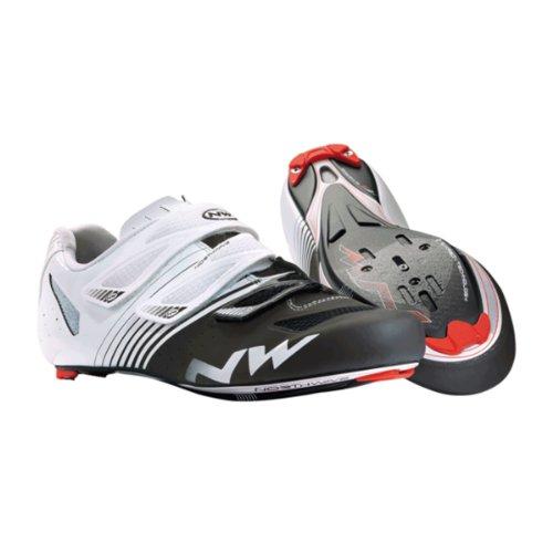 Northwave Torpedo 3S, Chaussures pour homme pour vélo de route, 2014, blanc/noir Blanc - blanc