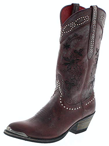 Sendra Boots Damen Stiefel 15500 Vino Cowboy Stiefel Rot 37 EU