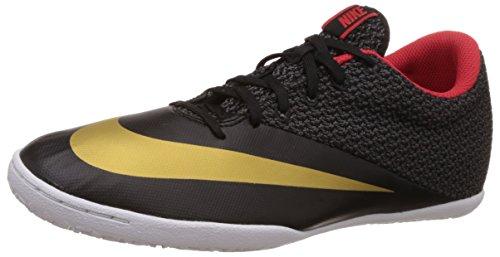 Nike Herren Mercurialx Pro Ic Fußballschuhe Negro / Dorado / Gris (Blk/Mtllc Gld-Chllng Rd-White)