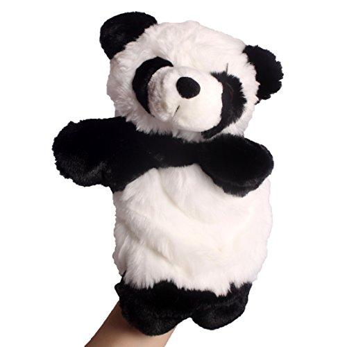 uppen aus Plüsch,Handpuppe Handspielpuppe Plüsch Puppe Mini Tier Cartoon Tiermotive Panda (SO-02) (Tier-handpuppen)