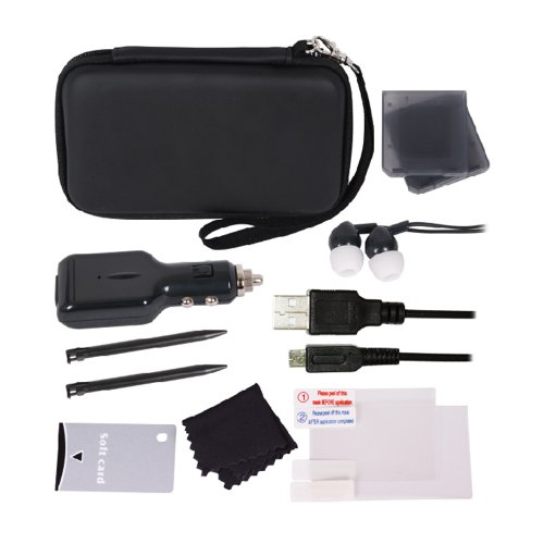 uxe 12-in-1 Accessory Pack Black 3DS ()