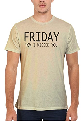 Friday How I Missed You Cool Men Women Damen Herren Unisex Top T Shirt Sand(Cream)