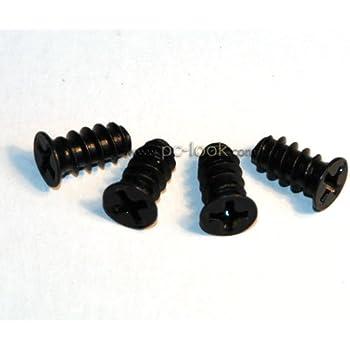 Générique - Kit de 4 vis pour ventilateur - Métal Noir