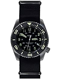 MWC Watch Men's Analogic Automatic Steel NATO Fabric 100ATM/12/SS/AUT
