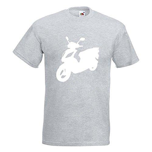 KIWISTAR - Scooter Custom Roller T-Shirt in 15 verschiedenen Farben - Herren Funshirt bedruckt Design Sprüche Spruch Motive Oberteil Baumwolle Print Größe S M L XL XXL Graumeliert