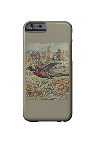 National Sportsman - Hunter and Spaniel Pheasant Flying away - Vintage Magazine Cover (iPhone 6 Cell Phone Case, Slim Barely There)