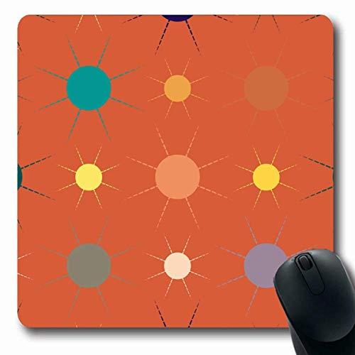 Mousepads für Computer Grubby Attrition Multicolor Einfache Geometrische Sun American Parks Batik Beste Glühbirne Leinwand Farbe Design rutschfeste Längliche Gaming-Mausunterlage - American Leinwand