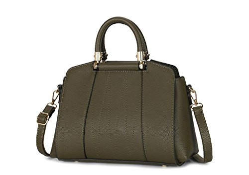 borse in pelle, Miss Han Ban borse grande moda, tempo libero Messenger, cellulare dual-use package green