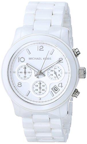 Michael Kors - MK5161 - Montre Femme - Quartz Chronographe - Chronomètre - Bracelet Céramique Blanc