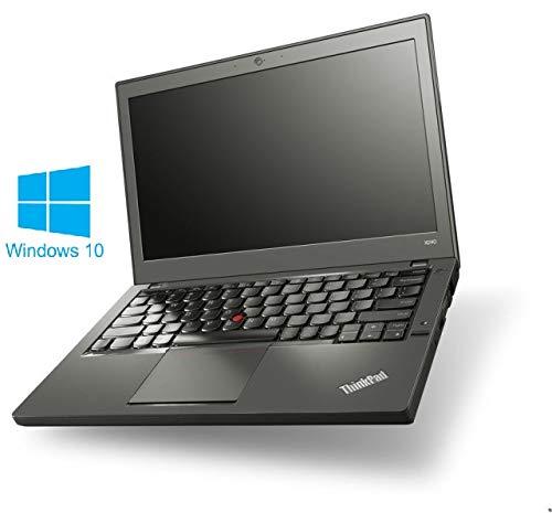 Lenovo ThinkPad X240 Notebook / Laptop | 12.5 Zoll Display | Intel Core i7-4600U @ 2,1 GHz | 8GB DDR3 RAM | 256GB SSD | Windows 10 Home vorinstalliert (Zertifiziert und Generalüberholt)