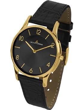 Jacques Lemans Unisex-Armbanduhr London Analog Quarz Leder 1-1778O