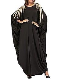 af7ea4c69c27 besbomig Arabo Robes I Musulmani Lungo Maxi Vestito Casuale Sciolto Islamico  Capi di Abbigliamento - Kaftan Marocchino Sera Festa Abiti…