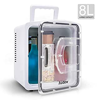 Audew mini kühlschrank auto kühlschrank 8 Liter Kühler/Wärmer Auto/Zuhause 12V/200-240V Reisekühlschrank Mini-Kühlschrank minikühlschrank lautlos