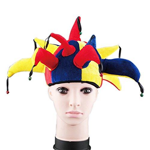Halloween Hat Clown Makeup Cosplay Dance Props Clothing Halloween Supplies Performance Headdress Striped Clown Hat Kleider (Beängstigend Clown Make Up)