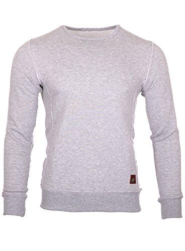 Reslad Sweatshirt Herren-Pullover Basic Look Strick-Pullover RS-1032 Grau