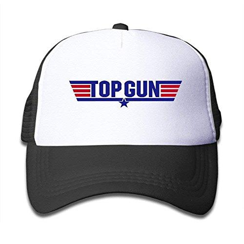 Cap Hat Macthy Top Gun Logo Boy s Mesh Snapback Hat Cap Black d3d232adf0a2