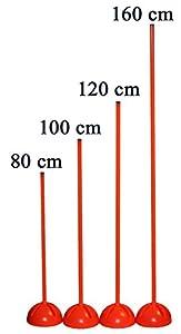 agility sport pour chiens - socle multi-fonctions remplissable avec jalon - longueur 100 cm, Ø 25 mm - couleur: orange - 1x xs100o