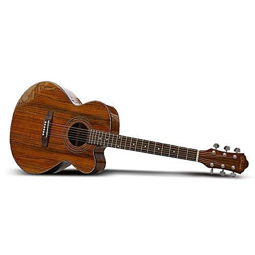 Miiliedy 41-Zoll-Walnuss-Runde Akustikgitarre Anfänger Schüler Männliche Schüler Erwachsene Selbststudium Üben Sie das Spielen von Akustikgitarre die Beste Wahl, um großartige Musik zu genießen -