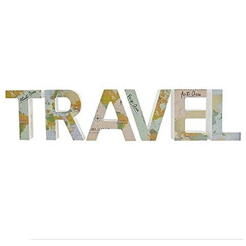 Karte Travel Block Buchstabe Ornament