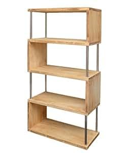 raumteiler holz wand stand b cher 126 cm bad b ro regal schrank shabby hellbraun neu. Black Bedroom Furniture Sets. Home Design Ideas