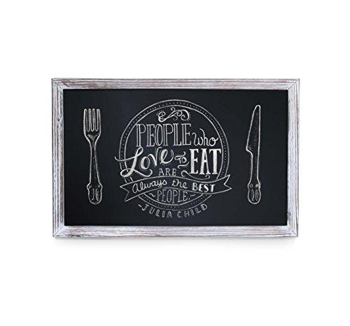 HBCY Creations Rustikale Whitewashed Magnetic Wand Tafel, Eingerahmt Tafel - Dekorative Magnettafel Groß für Küchen-Dekor, Hochzeiten, Restaurant-Menü und vieles mehr! 11