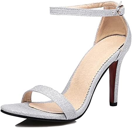 Ladies Sandalias De Tiras Alto Talón Sandalias Zapatos Peep Toe Adventure Sandalias De Gran Tamaño Sexy Mujer