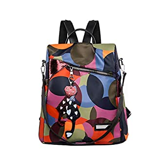 41yZGH36X8L. SS324  - Sayla Bolsos de Mujer Bandolera Mochilas Moda Casuals Anti-Robo Mujer Mochila de Nylon Mochila de Bolsa de Mano Mochilas Impermeable Bolsa de Viaje