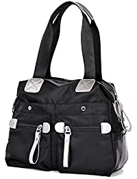 FancyBag - Nylon resistente al agua Mujeres Female Unisex bolso bolso de compras bolso de mano Tote bolso de hombro