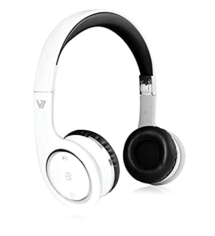 :V7 HS6000 Wireless Bluetooth 3.0 Stereo Headset/ Headphones with NFC Connection Function and Integrated Microphone (2x 1.9 W, 10-Hour Battery Life, Hands-Free Function),