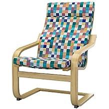 Soferia - IKEA POÄNG Funda para sillón, Mozaik White