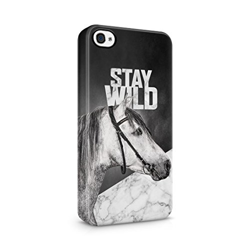 Vintage Wild Running Mustang Horse In Fields Custodia Posteriore Sottile In Plastica Rigida Cover Per iPhone 5 & iPhone 5s & iPhone SE Slim Fit Hard Case Cover Stay Wild