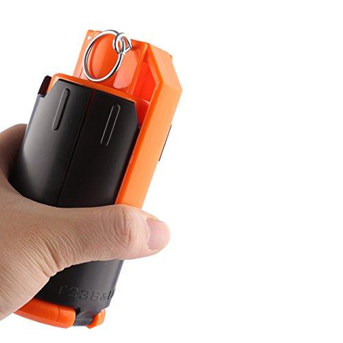 YAKOK Granaten Bombe Wasserbombe Wasserperlen Bombe Mod Teile Water Beads Bomb Zubehör Spielzeug für Nerf und CS Spiel (Schwarz, Orange)