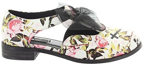 Iron fist chaussures oXFORD fLAT kILL mE lATER Blanc - Noir