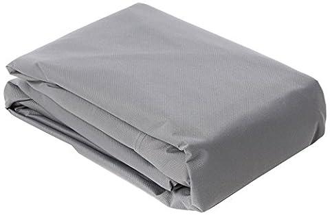 RUECAB Housse de protection pour Table carré Gris 130 x 130 x 80 cm 2284