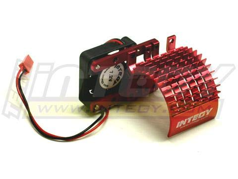 Integy RC Model Hop-ups C22480RED Side Mount Super Motor Heatsink+Fan 540
