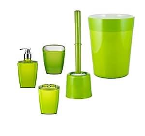 Ridder 229905050 350 set accessori bagno 5 pezzi colore verde casa e cucina - Amazon accessori bagno ...
