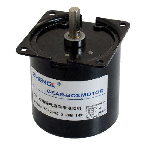 Aexit AC 220V 5RPM 14W Zylinder Geared Motor 60PTYZ B Kondensator - 1 Geschwindigkeit-kondensator-motor