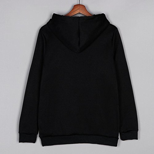 Femmes Licorne Imprimer à manches longues à capuche Sweat-shirt à capuche Pull à capuche Noir