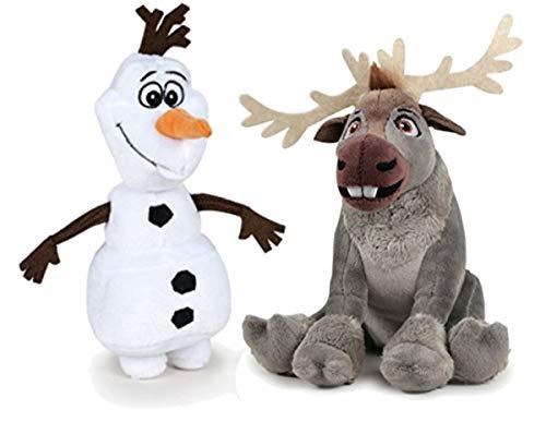 """Olaf the snowman 7""""/20cm  Sven the reindeer 8""""/17cm"""