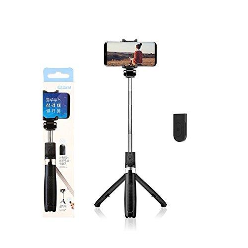COSY Ausziehbarer Schläger mit Stativ-Selfie-Ständer Schwarz