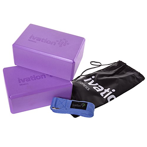 ivation-large-yoga-blocks-8-foot-yoga-strap-combo-pack-safe-durable-yoga-props-perfect-for-all-yoga-