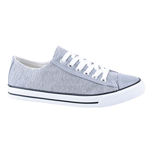Herren Damen Sneaker Sportschuhe Lauf Canvas Freizeit Fitness Low Unisex Schuhe Grau/Grau/Damen