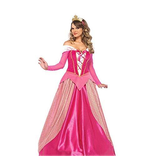 Priester Langarm Kostüm - Fashion-Cos1 Neue Frauen Mädchen Dornröschen Prinzessin Cosplay Party Kleider Rosa Langarm Kostüm Langes Kleid Für Erwachsene