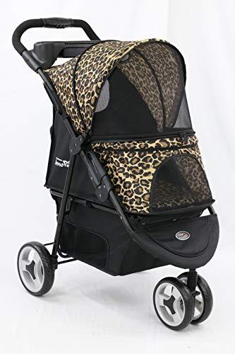 InnoPet Allure Hundebuggy Hundewagen Pet-Stroller Kinderwagen für Hund Katze Leo Print