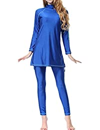 Zhuhaitf Musulman Modeste Full Cover Protection 2-Pieces Maillots de bain Bathing Suit Islamique Arabe Swimwear Burkini Beachwear Pour Femmes 6246#
