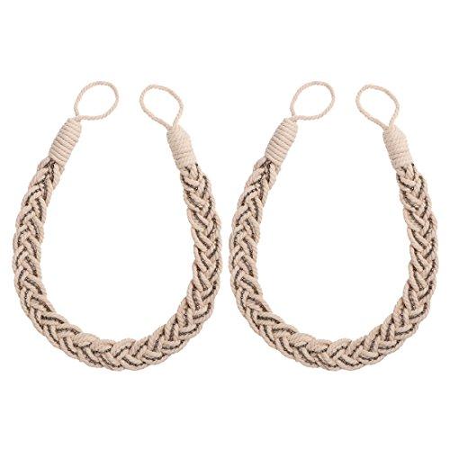 VORCOOL 2st Vorhang Raffhalter Klassische Strick Vorhang Gardinen Tieback Seil mit Perlen